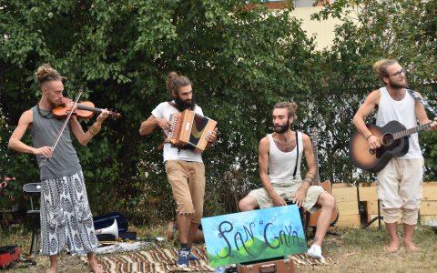 Le groupe Pan'Gaya en concert au jardin PoP'Art (29 aout)