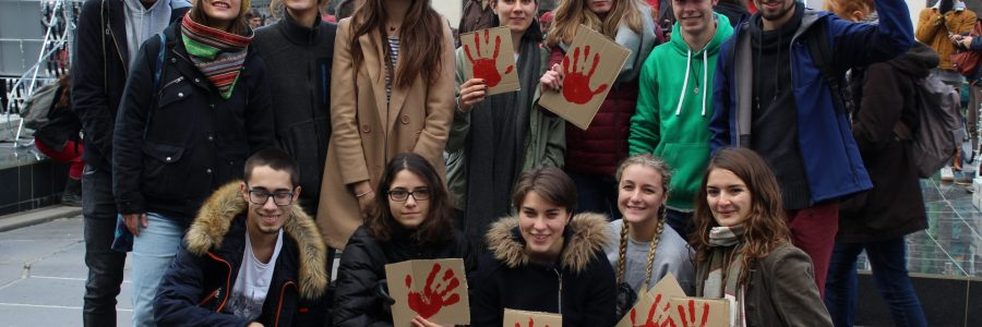 L'ADNA et les étudiants engagés dans la Marche pour le climat