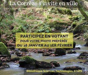 Expo'Photo «La Nature en Corrèze» du 18 janvier au 01 février 2019, à la BU des Cézeaux