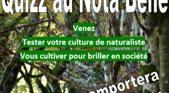 QUIZ naturaliste au Nota Bene, le 5 février 2019 à 18h