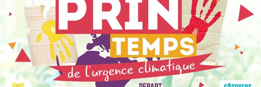 Le printemps de l'urgence climatique – marche le samedi 16 mars 2019 à 13h30 – départ place des Salins à CF