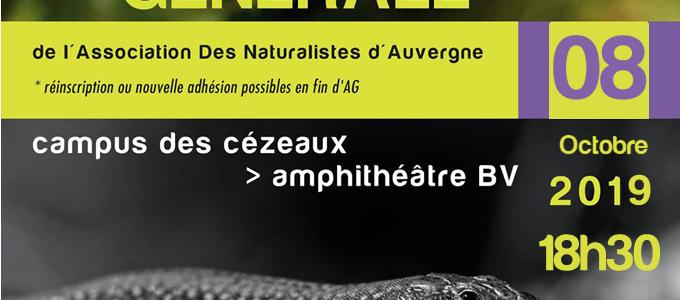 Assemblée Générale de l'ADNA le 8 octobre 2019 à 18h30 en Amphi BV – campus des Cézeaux