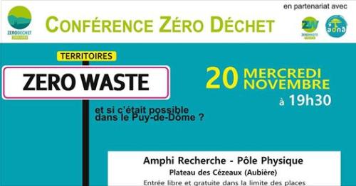Conférence Zéro Déchets – Mercredi 20 Novembre